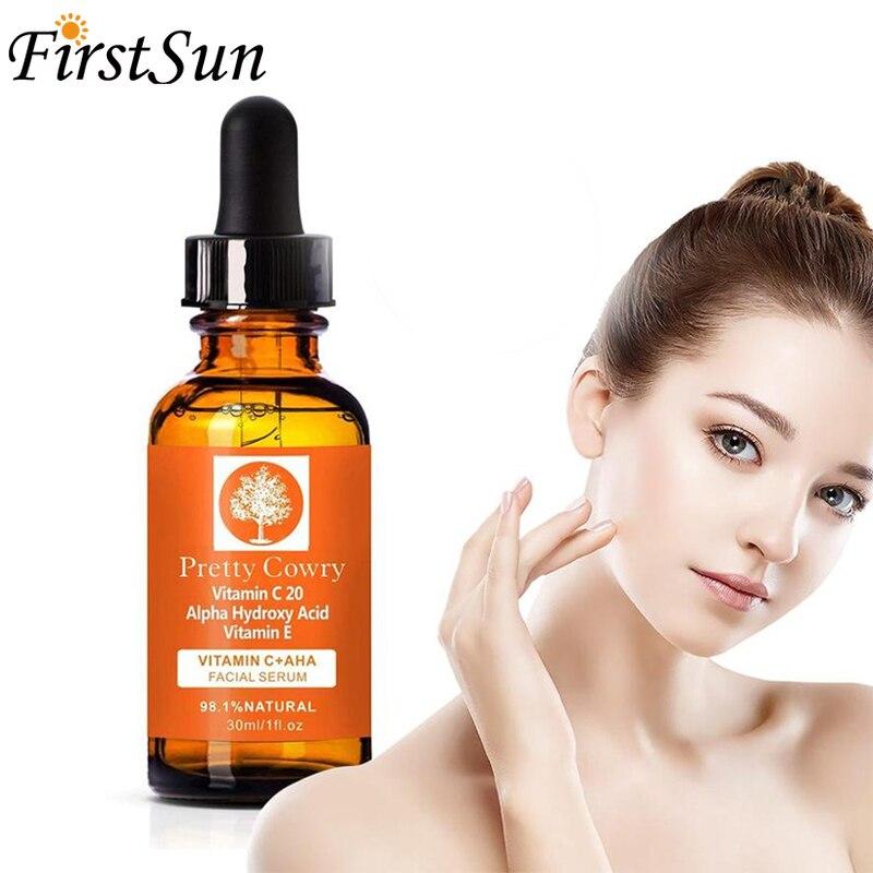 Natural Face Serum Vitamin C Serum Firming Repair Skin Anti Wrinkle Anti Acne Anti Aging Serum Care Skin Essence  Skin Serum недорого