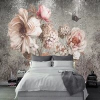 3d wallpaper for walls nordic retro flower wall mural oil painting rose decorative painting wallpapers home decoration