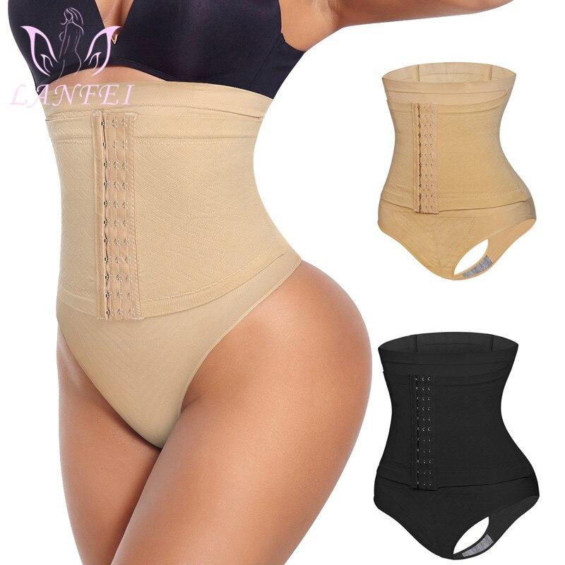 LANFEI Women High Waist Thong Panty Shaper Tummy Control Panties Slimming Body Shapers Butt Lifter Underwear Sheath Belly Briefs