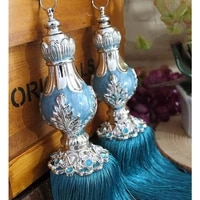 upscale european style curtain tassels brushes fashion straps interior home curtains pendant deraction