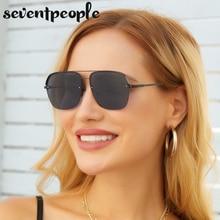 Semi Rimless Square Sunglasses Women Designer Luxury Metal Half Frame Sun Glasses For Men 2021 Fashi