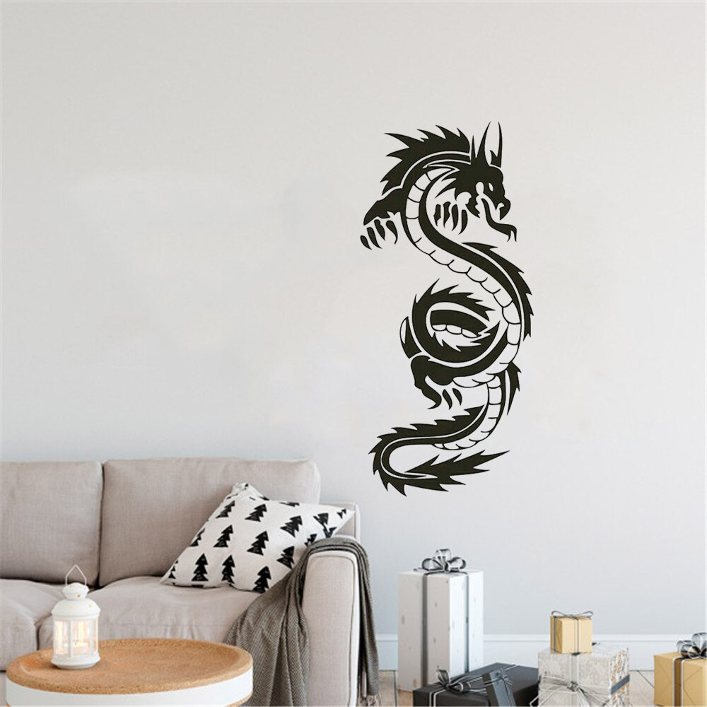 Alta qualidade dragão chinês parede mural sala de estar decoração casa vinil arte removível adesivo