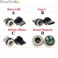 Круглый Магнитный кабель с разъемами типа C Micro USB C, 20 шт., 8 контактов, адаптер для быстрой зарядки телефонов, Магнитный зарядный штекер типа C