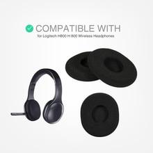 استبدال وسادات الأذن وسادة الأذن وسادة لينة رغوة ل لوجيتك H800 H 800 سماعة رأس لاسلكية سماعة