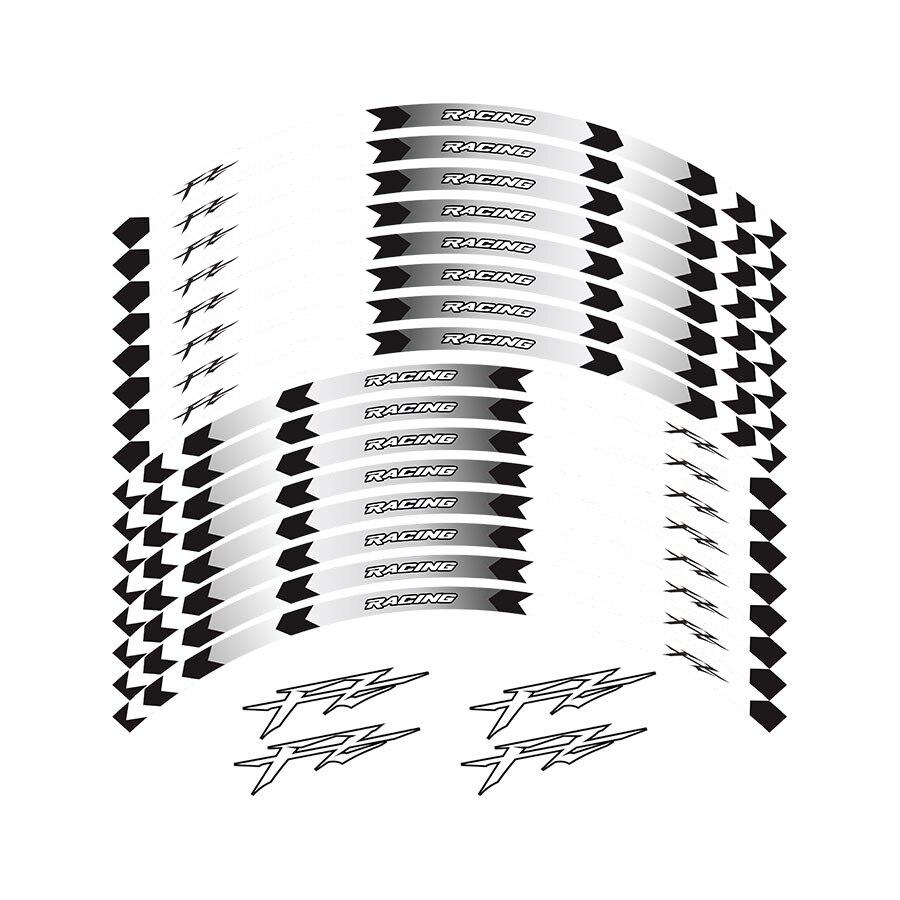 Nouvelle haute qualité 12 pièces ajustement moto roue autocollant rayure jante réfléchissante pour Yamaha FZ1 FZ6 FZ-07 FZ8 FZ-09 FZ-10 FZS1000