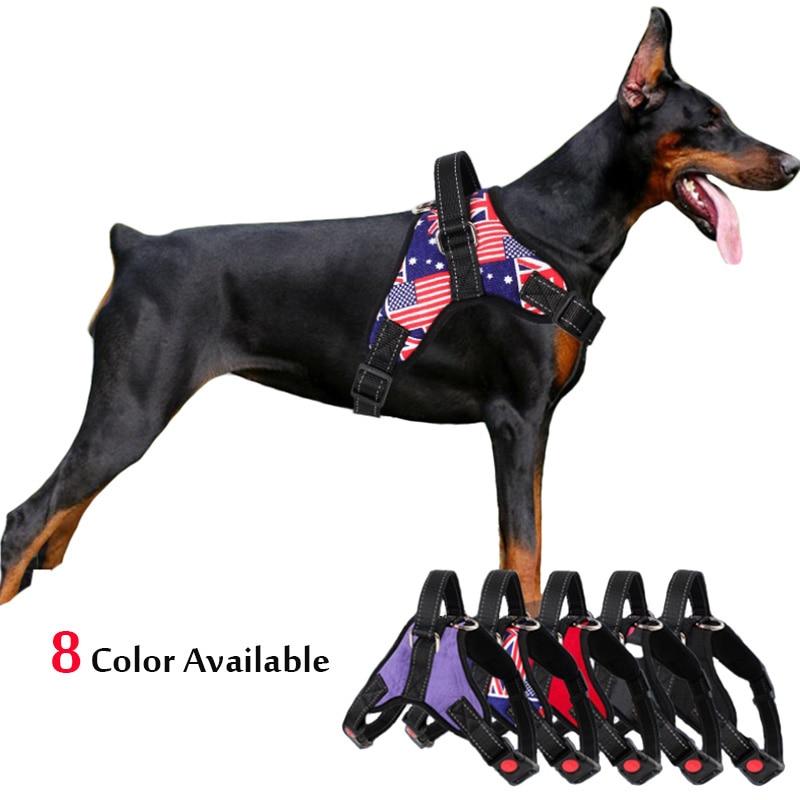 Arnés de perro grande, arnés reflectante para perros, arnés de entrenamiento para perros, correa de pecho para Bulldog de Alaska, Cable de plomo