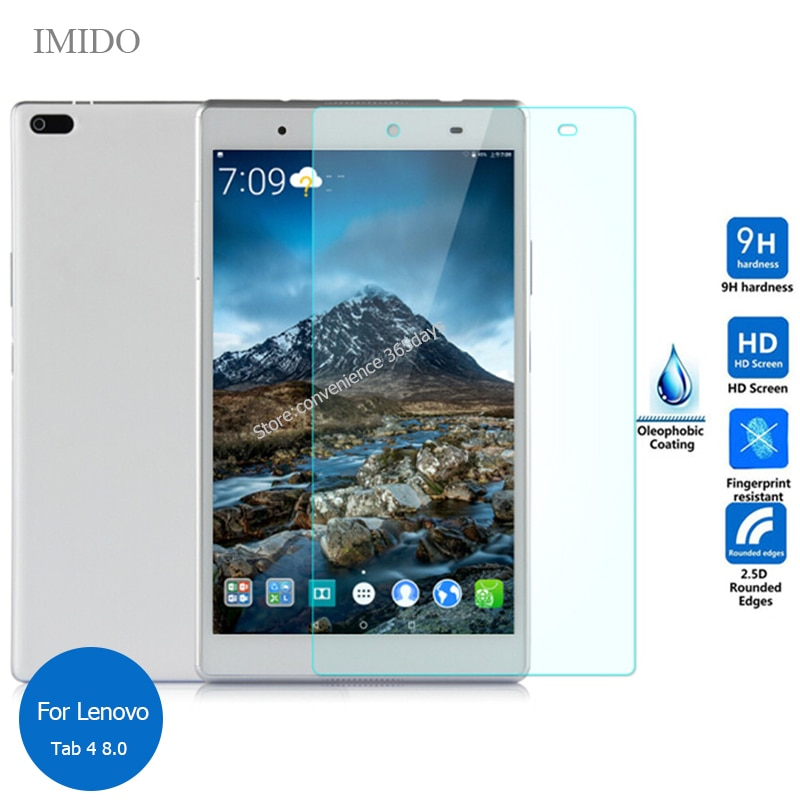 Para lenovo tab 4 8 protetor de tela de vidro temperado 9h película protetora segurança em tab4 8.0 TB-8504F TB-8504X tb 8504f 8504x