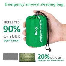 Saco de dormir de emergencia térmico, ligero e impermeable, Bivy Sack-Manta de supervivencia, bolsas para acampar, senderismo, actividades al aire libre