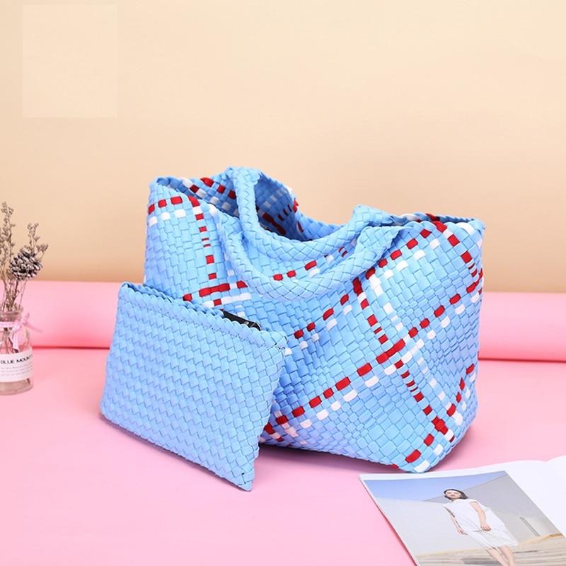 سعة كبيرة النساء الجلود المنسوجة يدويا حقائب عالية الجودة السيدات حقيبة كتف جديد مصمم الإناث عادية المنسوجة حقيبة الجراب الجلدية