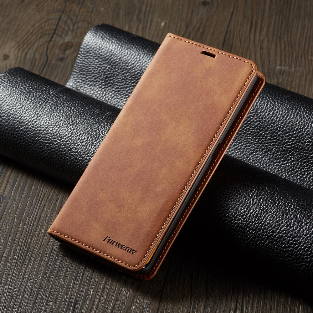Funda abatible de cuero para teléfono Huawei Mate20 Mate30 Pro, funda magnética para Huawei Mate20 Mate30 Lite, funda con ranura para tarjeta, billetera