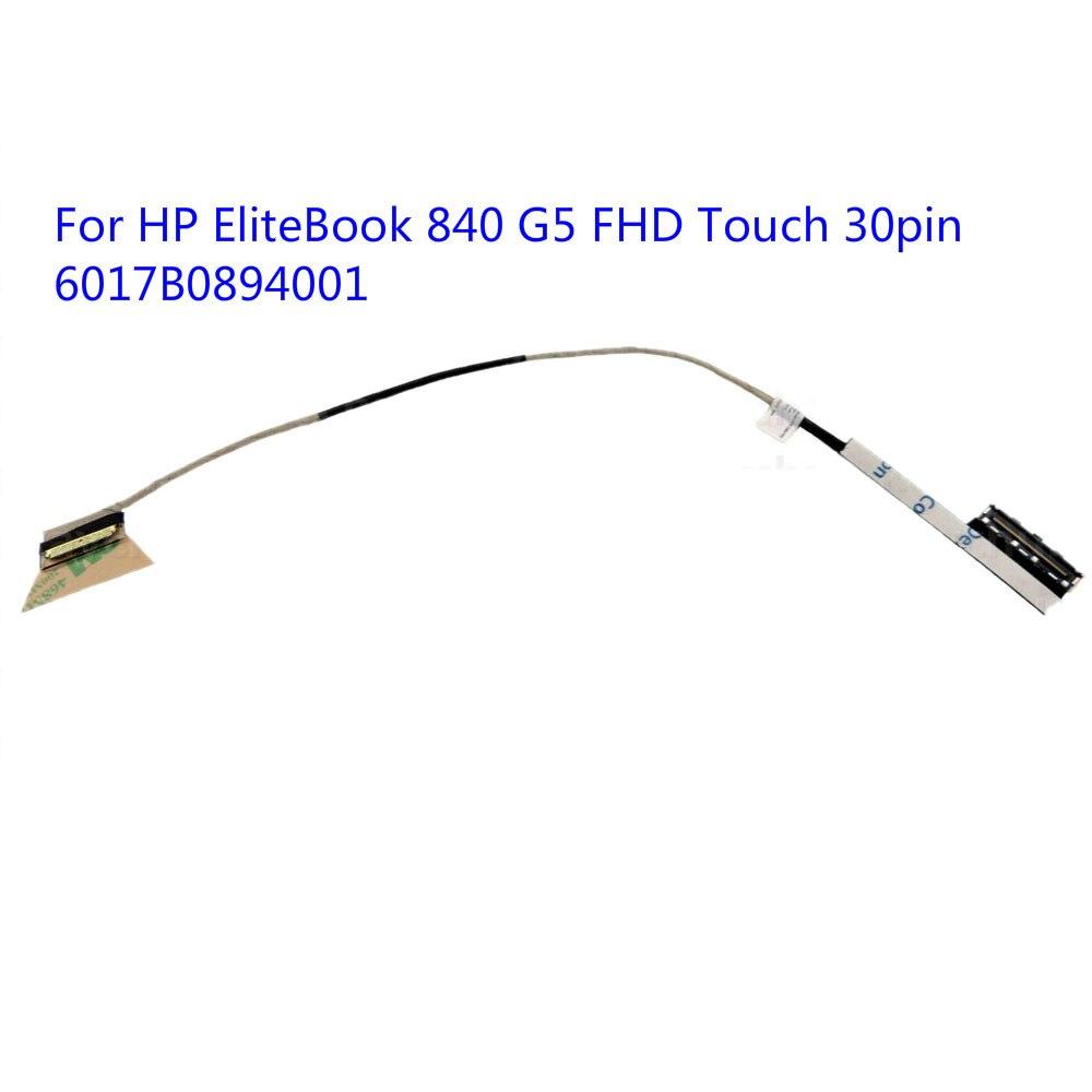 ل HP EliteBook 840 G5 FHD اللمس 30pin 6017B0894001 LCD شاشة عرض فيديو LED كابل