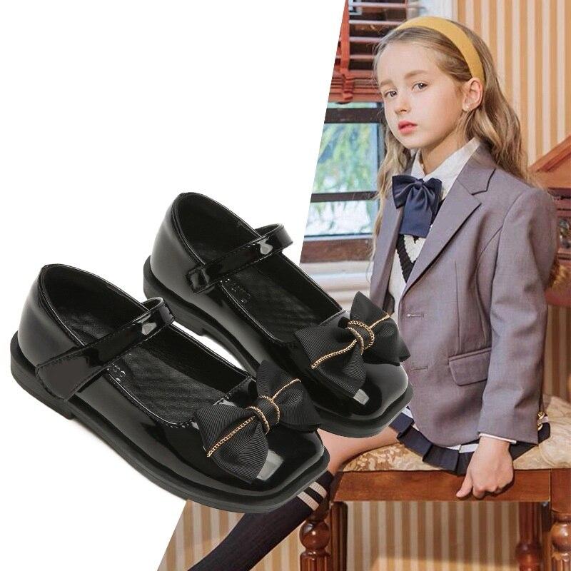 جديد الربيع/الخريف الفتيات أحذية الرقص أداء الأخفاف غير رسمية الأطفال الشقق مريحة طفل حذاء جلد للأطفال 033