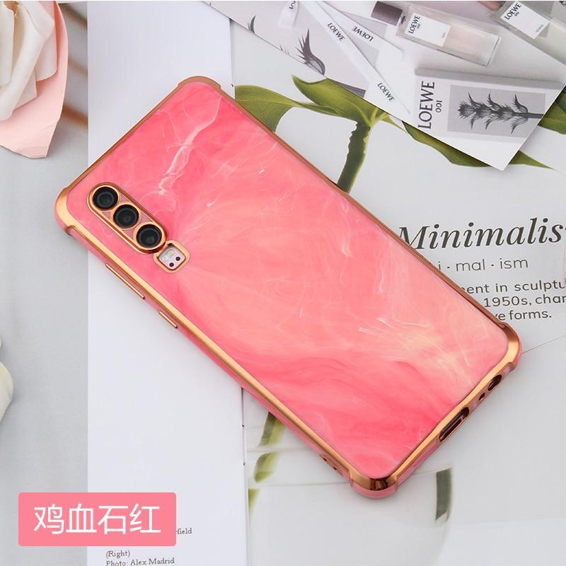 Luxury Shiny Marble Gold Plating Phone Case for Huawei Mate 40 Pro 30 P30 P40 Nova 7 7SE SE Soft Shockproof Silicone Back Cover enlarge
