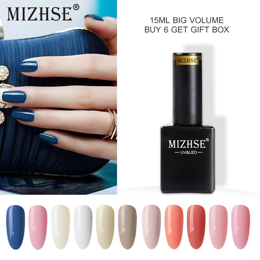 MIZHSE 18 мл Гель-лак УФ Гель-лак набор для маникюра геллак Полупостоянный гибридный дизайн ногтей отмачиваемый Цветной Гель-лак для ногтей