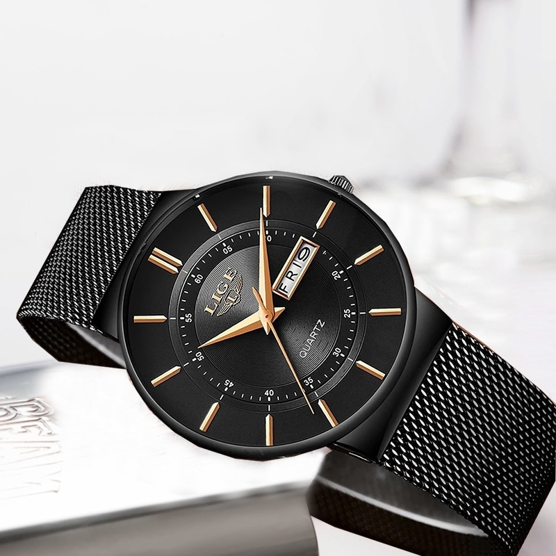 Women Watches LIGE Top Brand Luxury Waterproof Ultra Thin Date Clock Steel Strap Casual Quartz Watch Women Sport Wrist Watch+Box enlarge