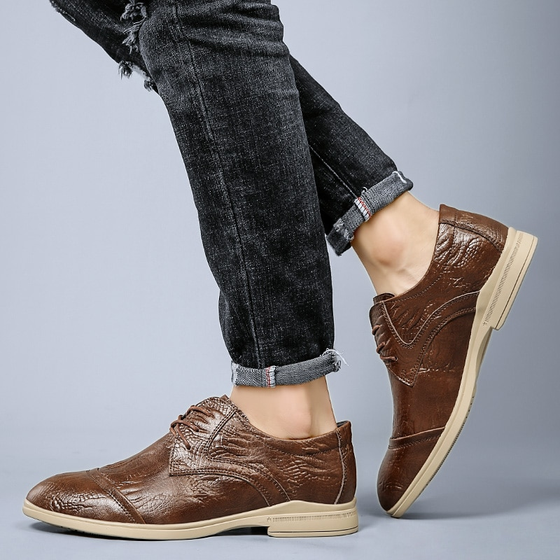 Quality Men Shoes Flats Narural Leather Casual Shoes Men Comfort Outdoor  Shoes Lace Up Walking Shoes Zapatos Hombre breathable outdoor shoes men breathable lace up casual shoes flats quality comfortable men shoes zapatos hombre