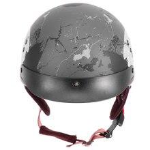 1Pc Motorcycle Helmet Safety Helmet Vintage Plastic Helmet PU Summer Safety Helmet Unisex Hard Hat