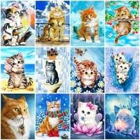 5d diy diamond painting full square cat rhinestones pictures diamond embroidery animals mosaic sale home decoration