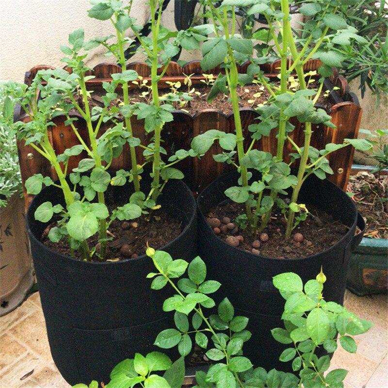 Bolsa para cultivo de patatas, macetas de tela con asas y solapa, bolsas de jardín para verduras, tomates, zanahorias, cebollas