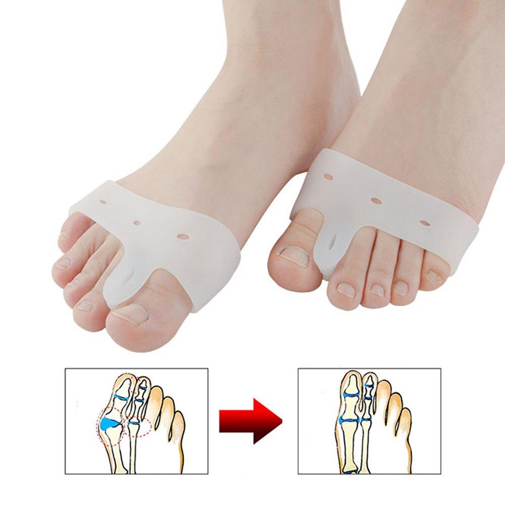 2pcs=1pair Silicone Toe Straightener Corrector Toe Separator Foot Care Fingers Separators Pain Relie