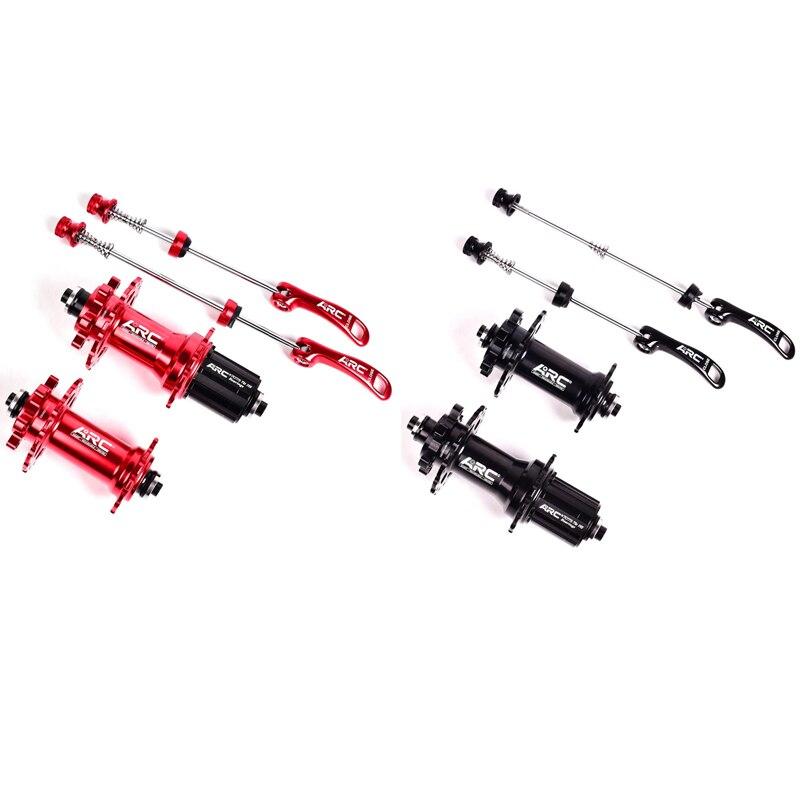 Eje de bicicleta ARC MT006 con 4 rodamientos sellados QR 100X9 135X10MM Set MTB Mountain buje de bicicleta con 36 orificios