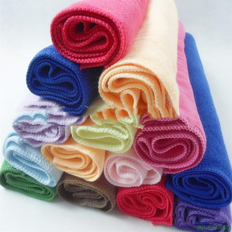 2018 Size 25*25CM Car Wash Microfiber Towel Car Cleaning Drying Cloth Hemming Car Care Cloth Detaili