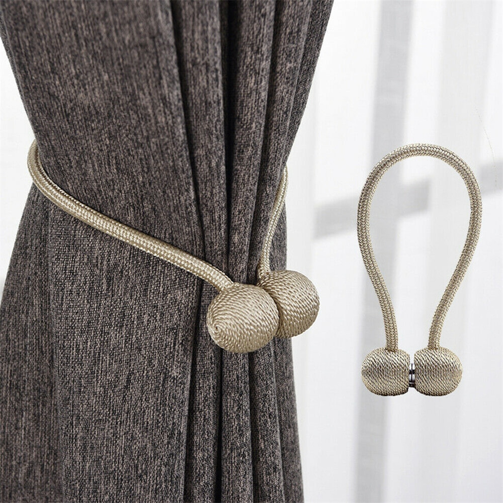 1Pc Hook Holder Home Decorations Pearl Magnetic Ball Curtain Tie Rope Backs Holdbacks Buckle Clips Accessory Rods Accessoires