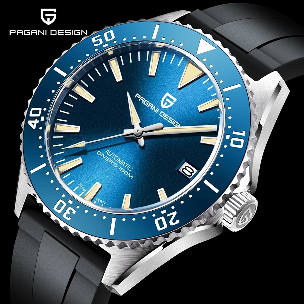 PAGANI DESIGN Automatic Men Wrist watch Sapphire Glass Mechanical Watch Top Brand 100M Sports Waterp
