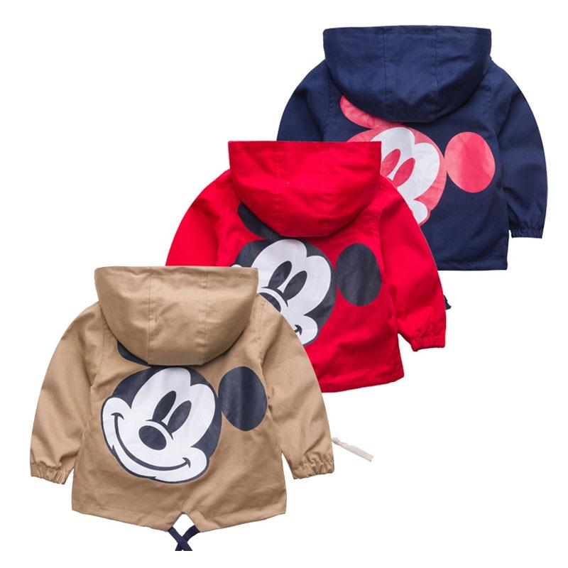 ¡Novedad de 2020! abrigo de otoño para niños, ropa de moda para niños, abrigo de Mickey minnie con dibujos animados, ropa para niños