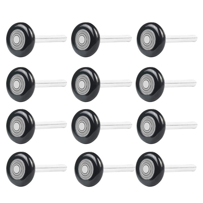 12 Pcs 2 inch Garage Door Rolle Nylon Garage Door Wheels for Garage Track Replacement with Sealed 6200Zz Ball Bearing