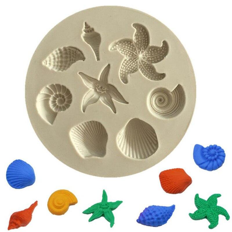 1 шт. DIY прекрасная оболочка ракушками море силиконовые формы инструменты для украшения тортов из мастики силиконовые формы торт шоколадный