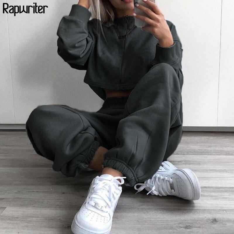 Rapwriter Casual 4 colores Stretch High cintura pantalón mujeres 2020 ropa de calle de primavera Color sólido Jogger lápiz pantalones Capris de bolsillo
