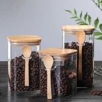 spoon sealed storage jar coffee containers large sugar storage bottle food dispenser rangement cuisine kitchen supplies dl60sp