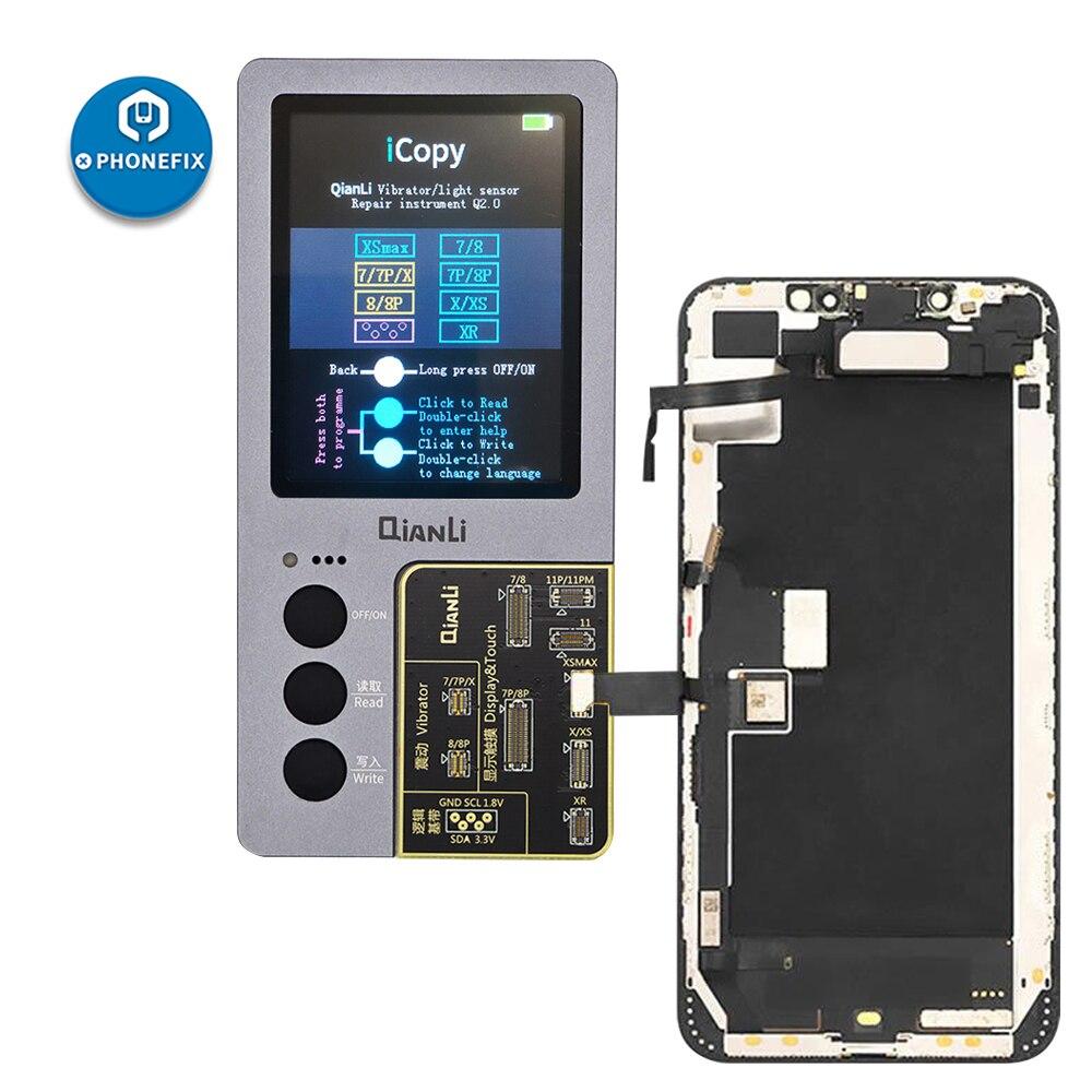 QIANLI iCopy Plus photomètre décran LCD pour iPhone 11 Pro Max XR XSMAX XS 8P 8 7 P 7 réparation de batterie de couleur originale photosensible