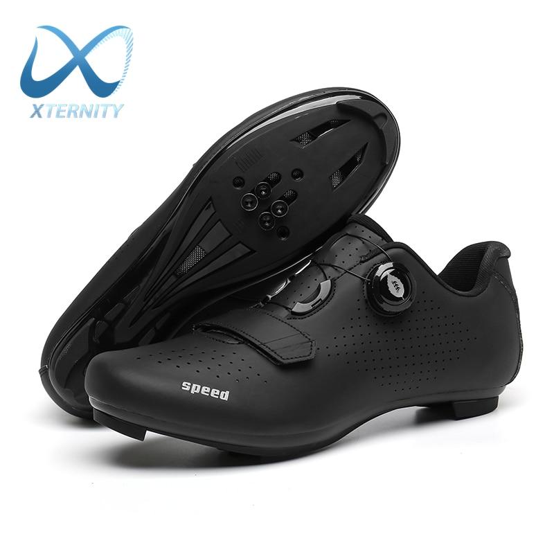 أحذية ركوب الدراجات الاحترافية للرجال MTB ذاتية القفل ، أحذية رياضية خارجية للدراجات ، سباقات الطرق ، SPD ، أحذية رياضية خفيفة للغاية
