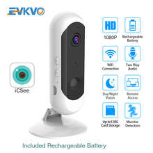 ICSEE 1080P HD Battery Security WiFi Camera PIR Human Detect Cloud Audio Wireless Home Security IP Camera Wire-Free CCTV Camera