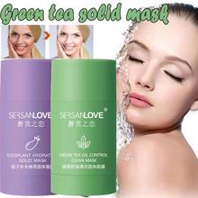 Green Tea Deep Cleansing Mud Mask Oil Control Anti-Acne Clay Eggplant Stick Masks Moisturizing Care