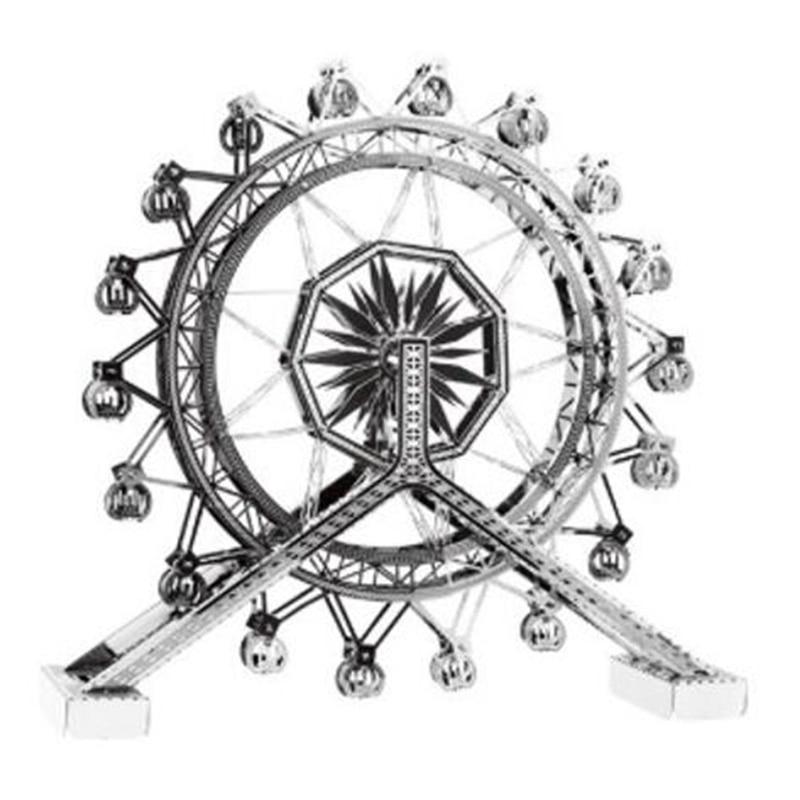 Rompecabezas 3D de Arquitectura de noria, Kits de modelos de ensamblaje, rompecabezas...