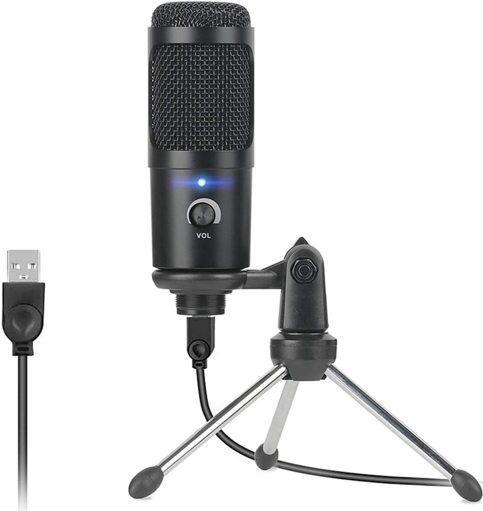 Профессиональный студийный микрофон Usb проводной конденсаторный микрофон для караоке компьютерные микрофоны амортизирующее крепление + п...