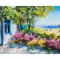 gatyztory flowers in garden diy painting by numbers kit modern wall art picture unique gift for home decor artwork