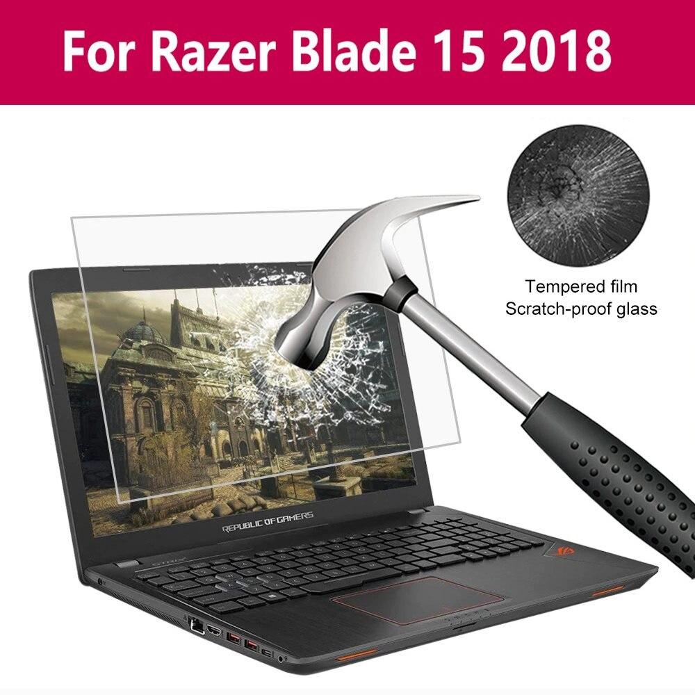 Película de vidrio templado para ordenador portátil dureza 9H Nano Revestimiento Anti rotura para Razer Blade 15 2018