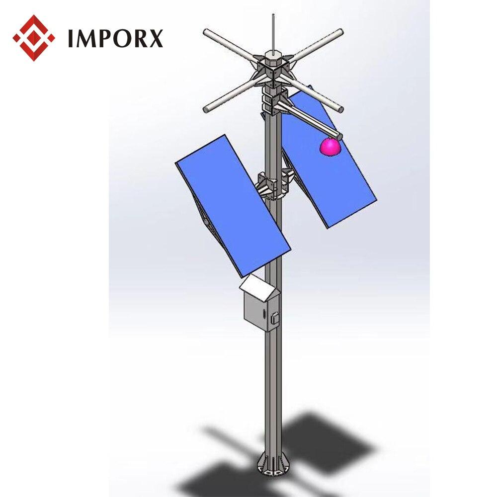 لوحة طاقة شمسية تعمل بالطاقة كاميرا IP ، قبة كاميرا لا سلكية مع الجيل الثالث 3G 4G