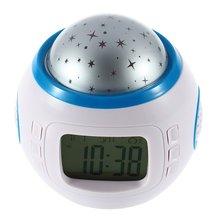 ICOCO estrellado cielo estrellado música proyector LED Digital reloj de alarma calendario termómetro repetición función noche luz Flash Venta de Oferta