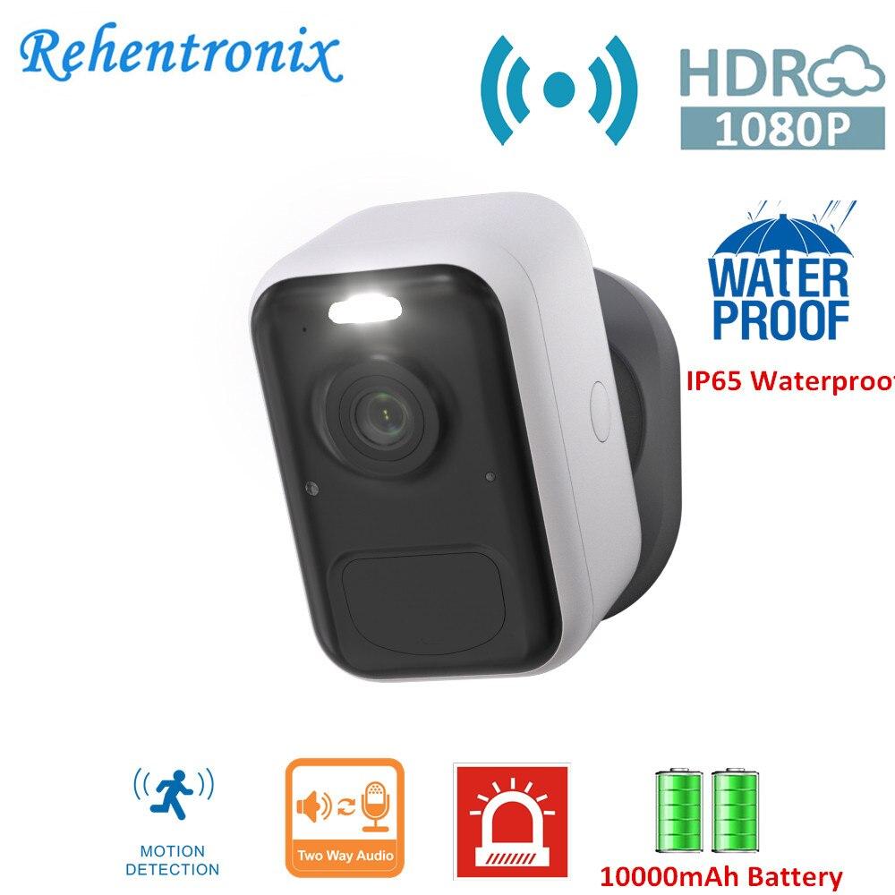 1080P اللون للرؤية الليلية بطارية Wifi كاميرا الضوء FHD PIR كشف الحركة 2-طريقة الصوت IP65 في الهواء الطلق سحابة الكاشف كاميرا