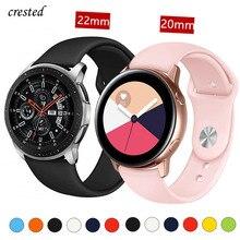 20/22mm bracelet Huawei wtach GT 2/2e 42/46mm pour Samsung Gear S3/S2/Sport bracelet en Silicone bracelet galaxie montre 46mm/42mm/actif 2