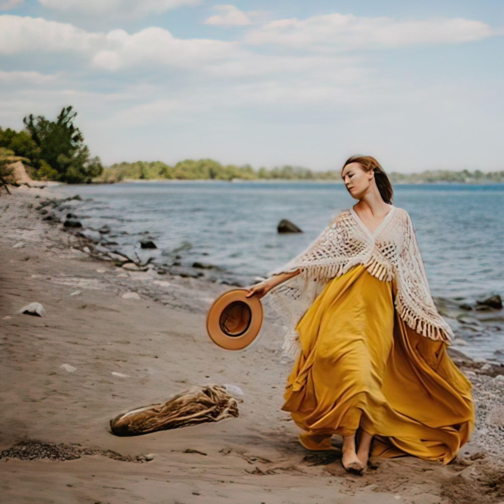 Photo Shoot Crochet Kaftan Boho Cotton Long Sleeves Robe Maternity Dress Evening Party Costume Women Photography Accessories enlarge