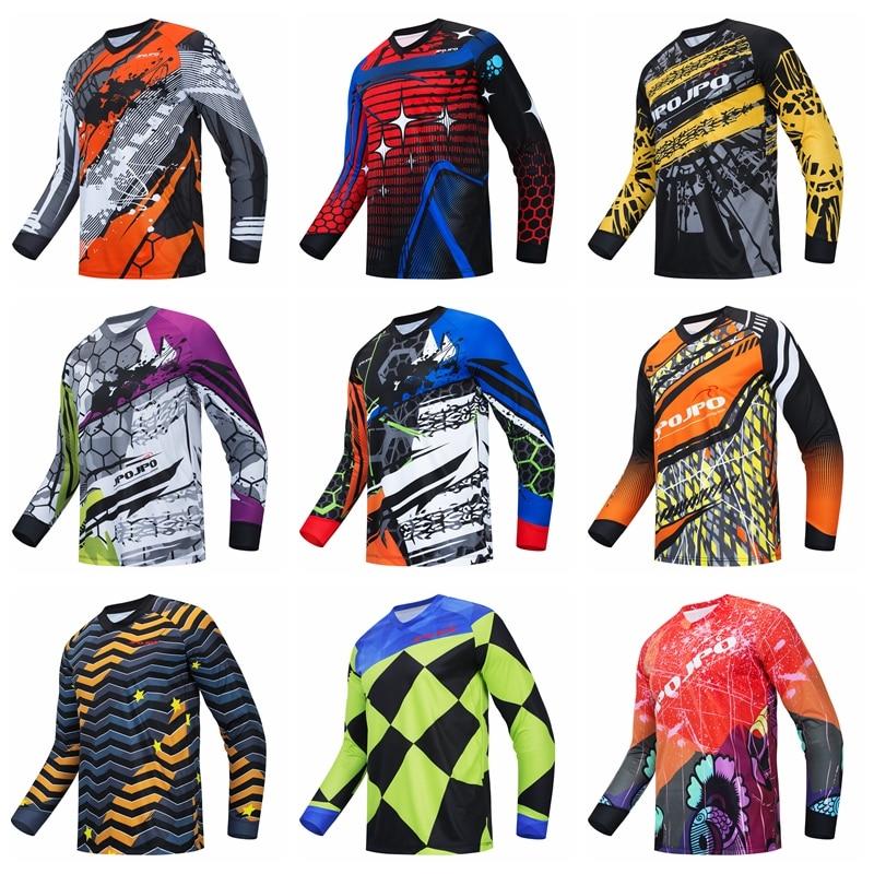 2020 männer der Downhill Radfahren Trikots Mountainbike MTB Shirts DH Motorrad Jersey Langarm Motocross Sportwear Kleidung