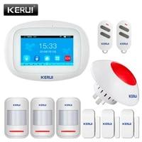 KERUI     systeme dalarme de securite domestique K52  wi-fi  GSM  SMS  4 3    TFT couleur  sans fil  anti-cambriolage  IOS Android  controle par application