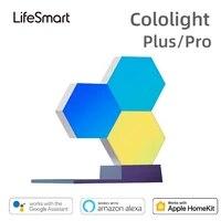 Panneau lumineux quantique intelligent LED RGB  lampe a assembler  Gadget pour la maison  fonctionne avec Homekit Google Alexa WiFi Cololight APP