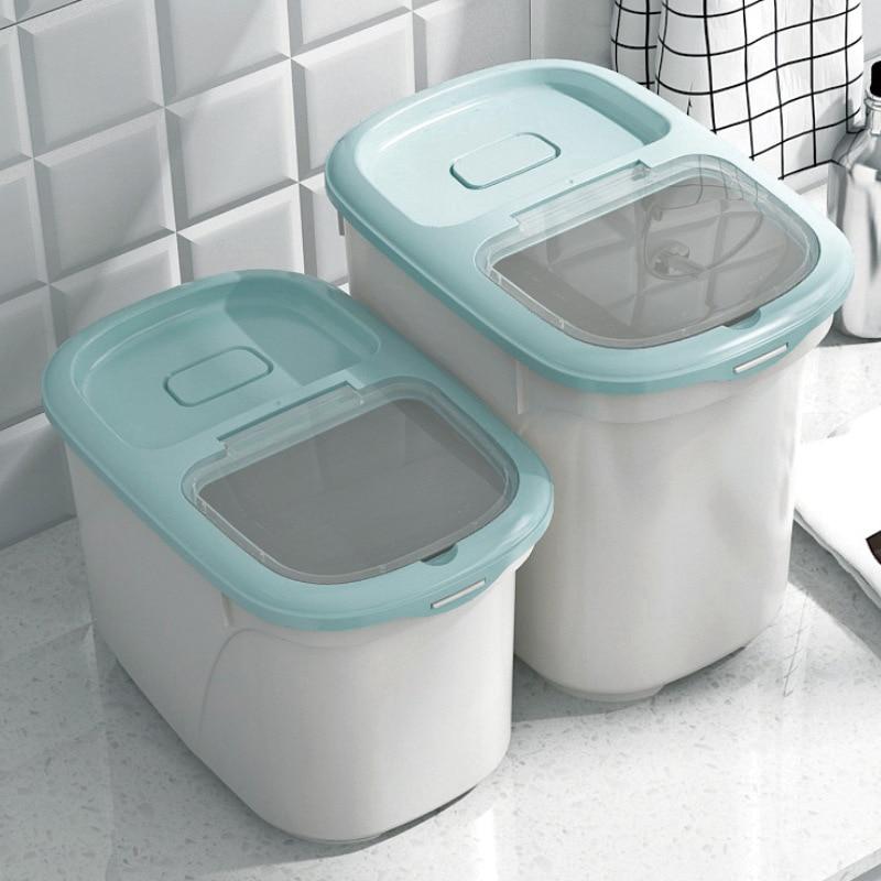 Kitchen 30 kg 20 kg insect-proof rice barrel moisture-proof sealed miscellaneous grain flour rice storage box WF712438